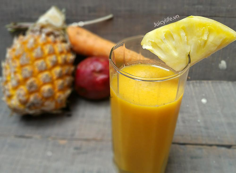 Cách làm sinh tố cà rốt dứa