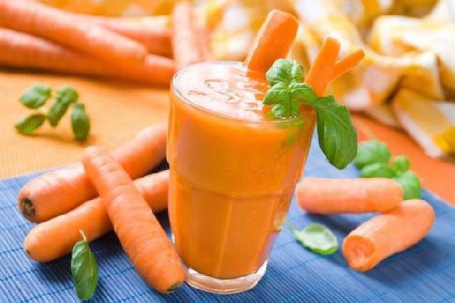 Công dụng của sinh tố cà rốt
