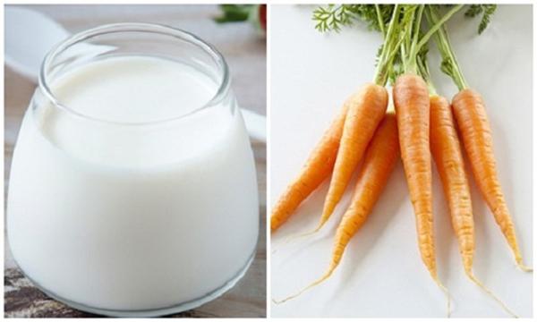 Sinh tố cà rốt với sữa tươi đẹp da