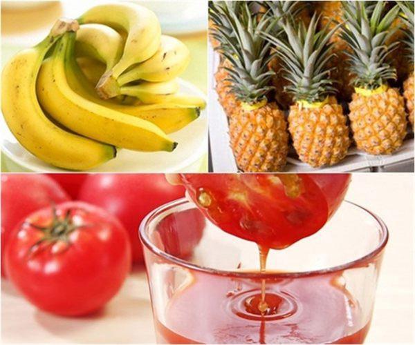 Sinh tố thơm cà chua, chuối