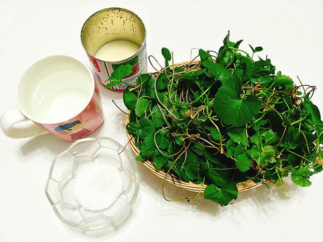 Cách làm sinh tố rau má đậu xanh ngon