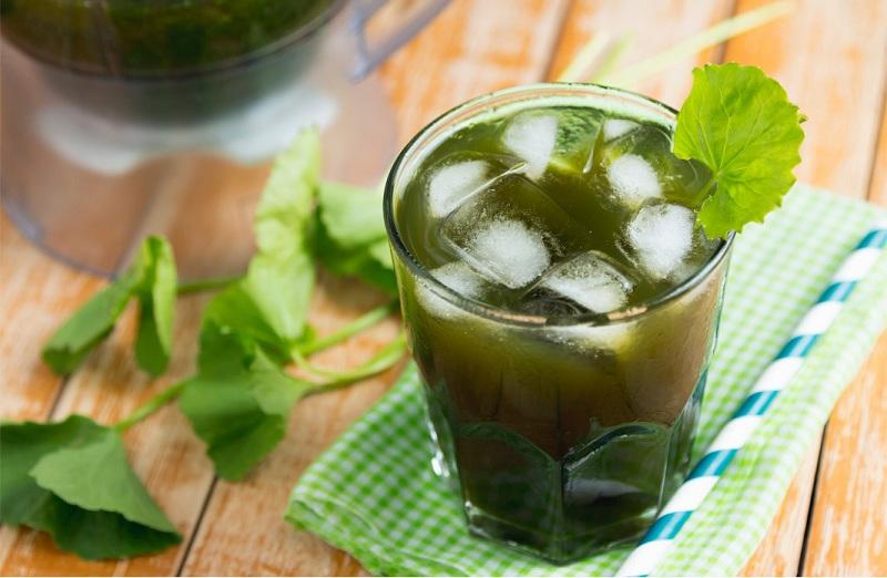 Cách làm sinh tố rau má và rau má đậu xanh ngon bằng náy xay sinh tố 1